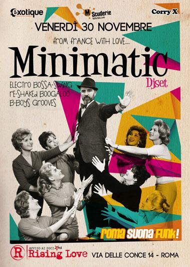 Minimatic a Roma Suona Funk!  venerdì 30 novembre