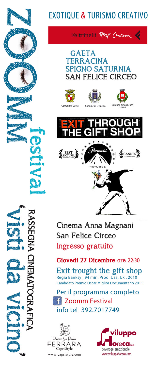 "ZOOMM FESTIVAL – VISTI DA VICINO – ""Exit Through the Gift Shop"" – Regia di Banksy"