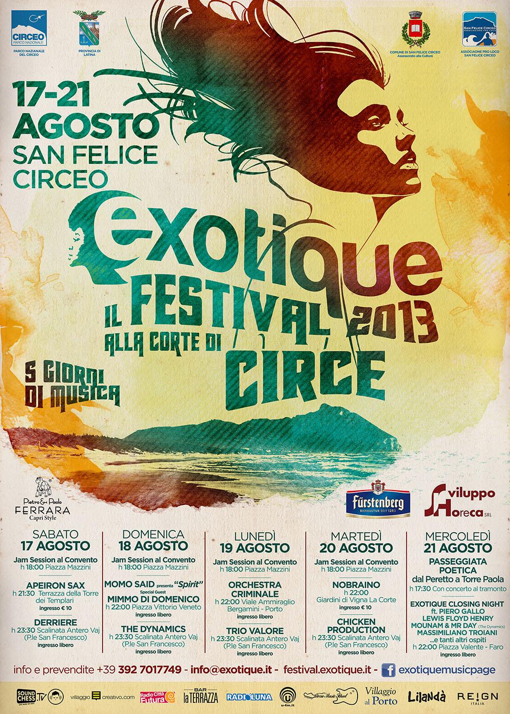 Exotique 2013 – il Festival alla Corte di Circe – S.F.Circeo 17-21 Agosto