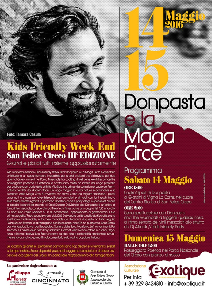 Donpasta e La Maga Circe_Kids Friendly Week End_S.F.Circeo 14 e 15 Maggio 016