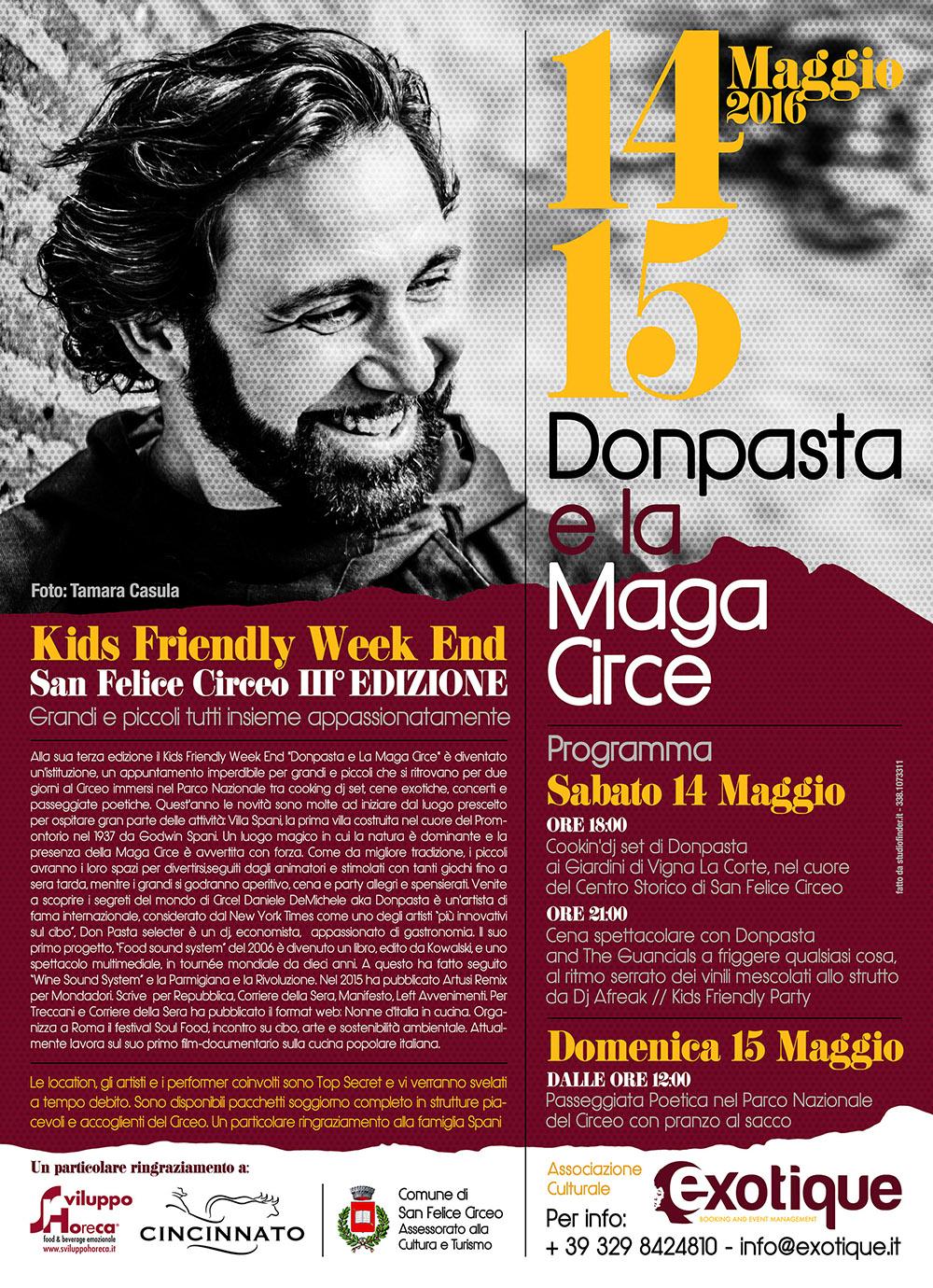 Donpasta e La Maga Circe_Kids Friendly Week End_S.F.Circeo 14 e 15 Maggio 016