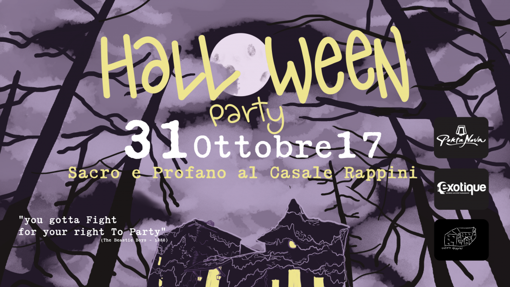 Halloween Party 2017. Sacro e Profano al Casale Rappini!