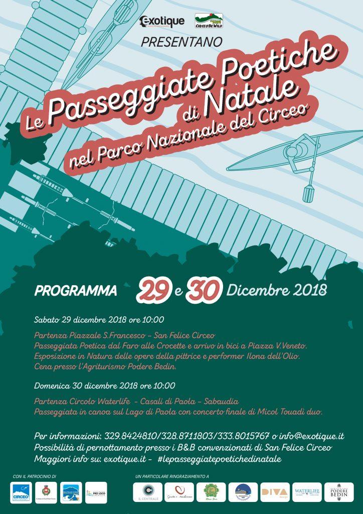 Le Passeggiate Poetiche di Natale 29 e 30 dicembre 2018