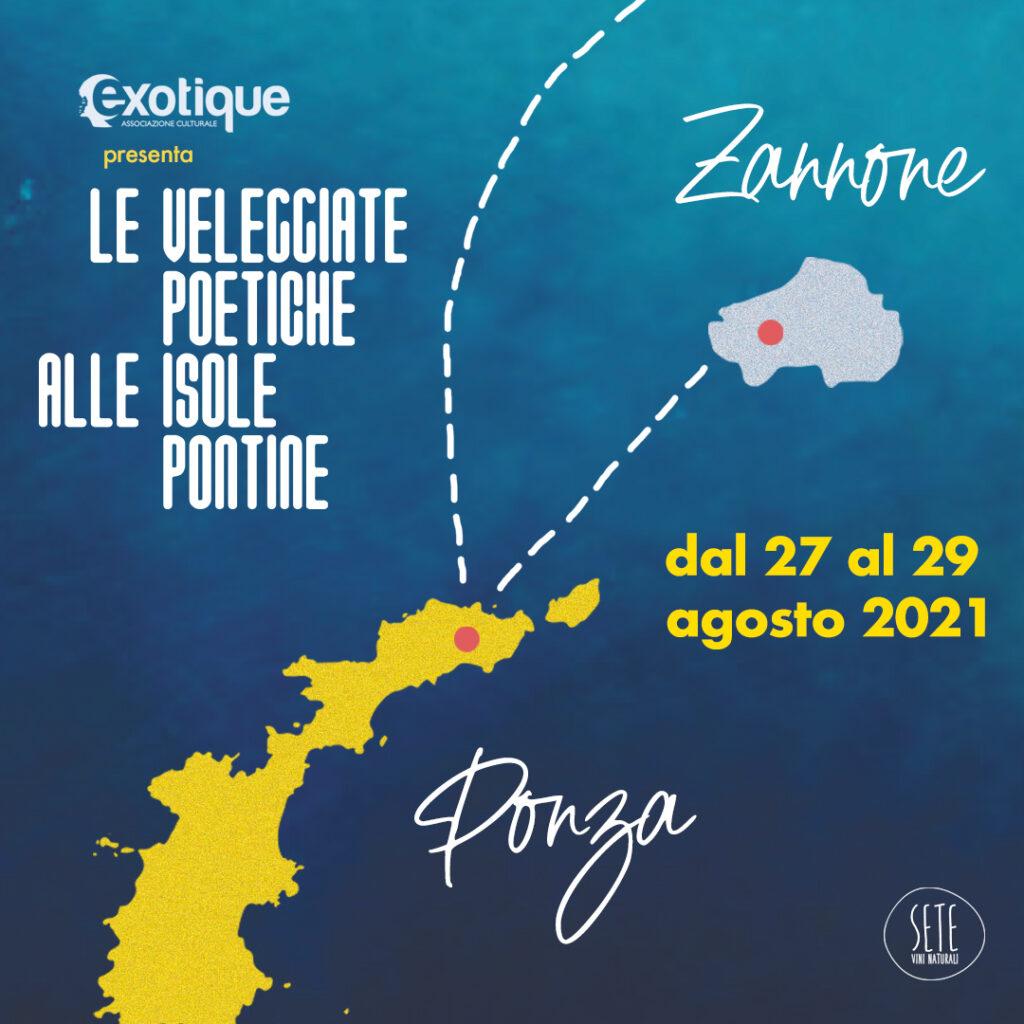 Le Veleggiate Poetiche alle Isole Pontine dal 27 al 29 agosto 2021
