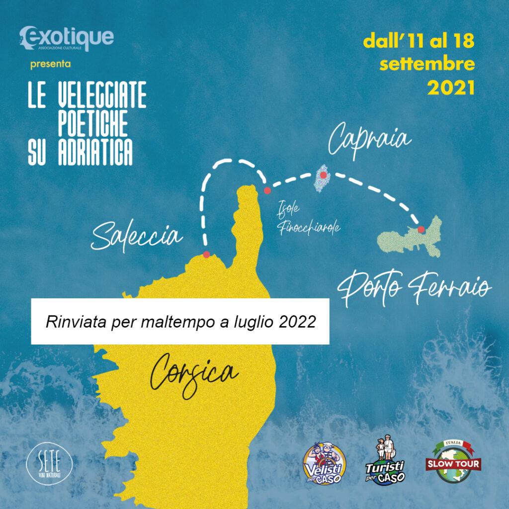 Le Veleggiate Poetiche su Adriatica dal 11 al 18 settembre 2021 – RINVIATA PER MALTEMPO A LUGLIO 2022