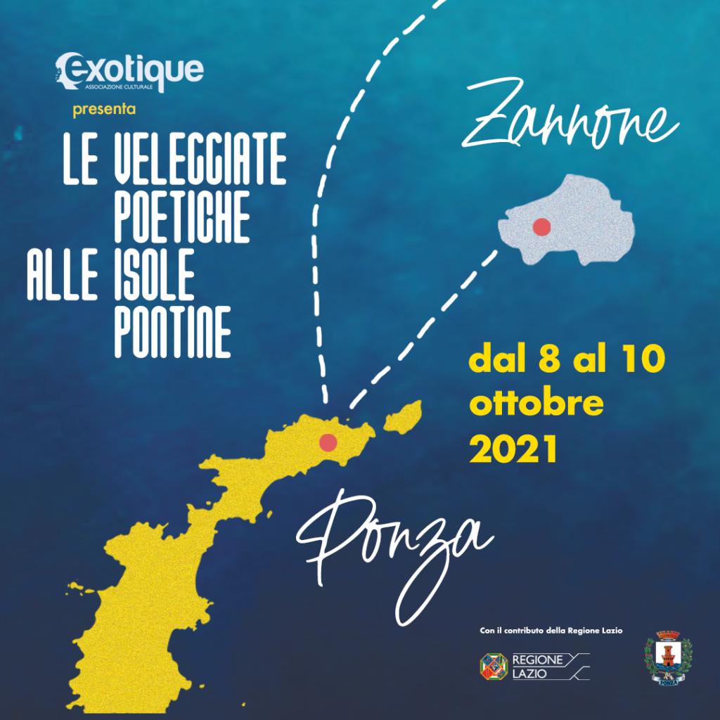 Le Veleggiate Poetiche alle Isole Pontine dal 8 al 10 ottobre 2021