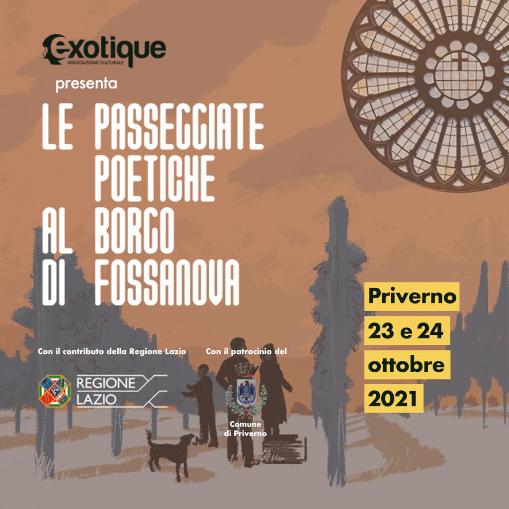 Le Passeggiate Poetiche al Borgo di Fossanova 23 e 24 ottobre